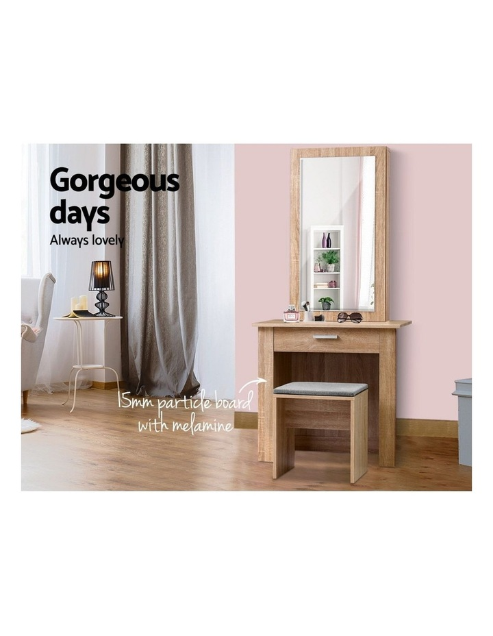 Dressing Table Mirror Stool Mirror Jewellery Cabinet Makeup Storage Wood image 3