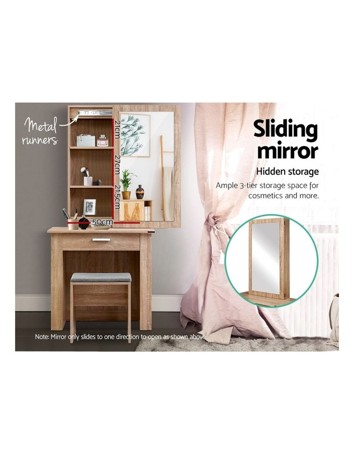 Dressing Table Mirror Stool Mirror Jewellery Cabinet Makeup Storage Wood image 4