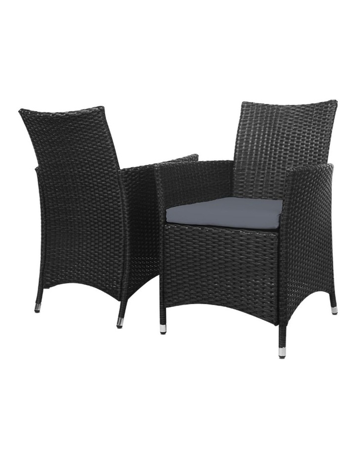Outdoor Furniture Wicker Chairs Bar Table Cooler Ice Bucket Patio Coffee Bistro Set image 3