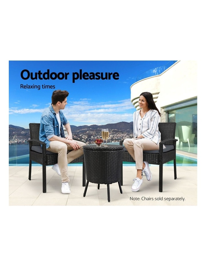 Bar Table Outdoor Setting Cooler Ice Bucket Storage Box Coffee Side Tables Party Pool Patio image 3