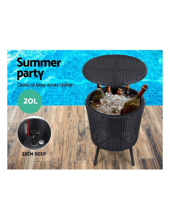 Bar Table Outdoor Setting Cooler Ice Bucket Storage Box Coffee Side Tables Party Pool Patio image 4