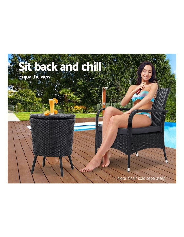 Bar Table Outdoor Setting Cooler Ice Bucket Storage Box Coffee Side Tables Party Pool Patio image 6