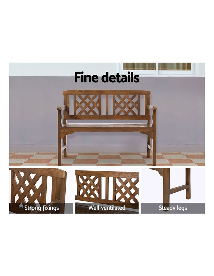 Gardeon Wooden Garden Bench Seat Patio Furniture Timber Outdoor Lounge Chair image 4