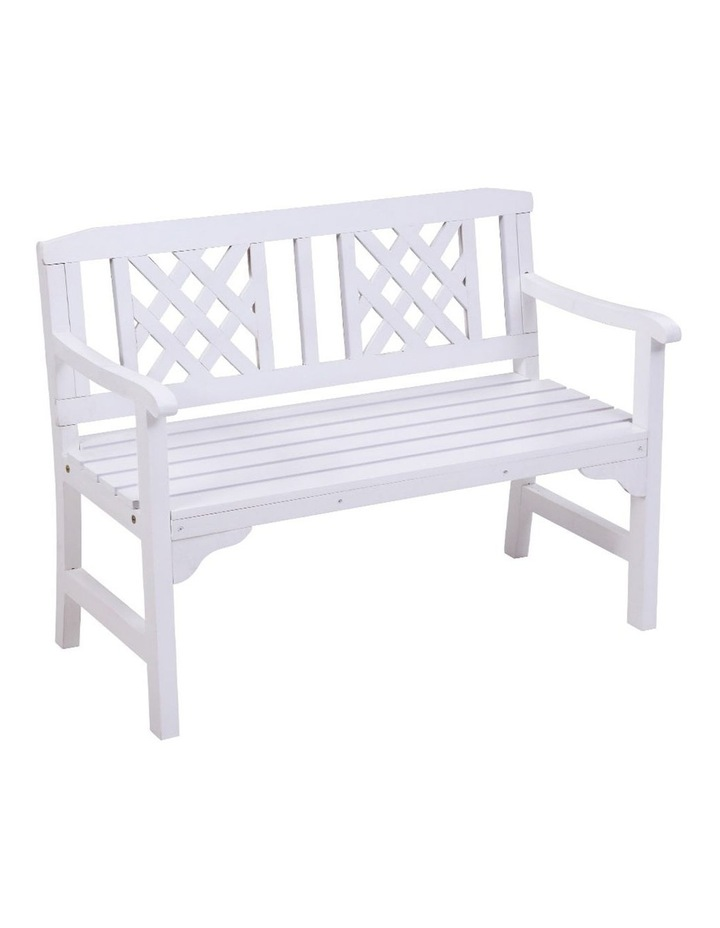 Wooden Garden Bench Seat Patio Furniture Timber Outdoor Lounge Chair image 1