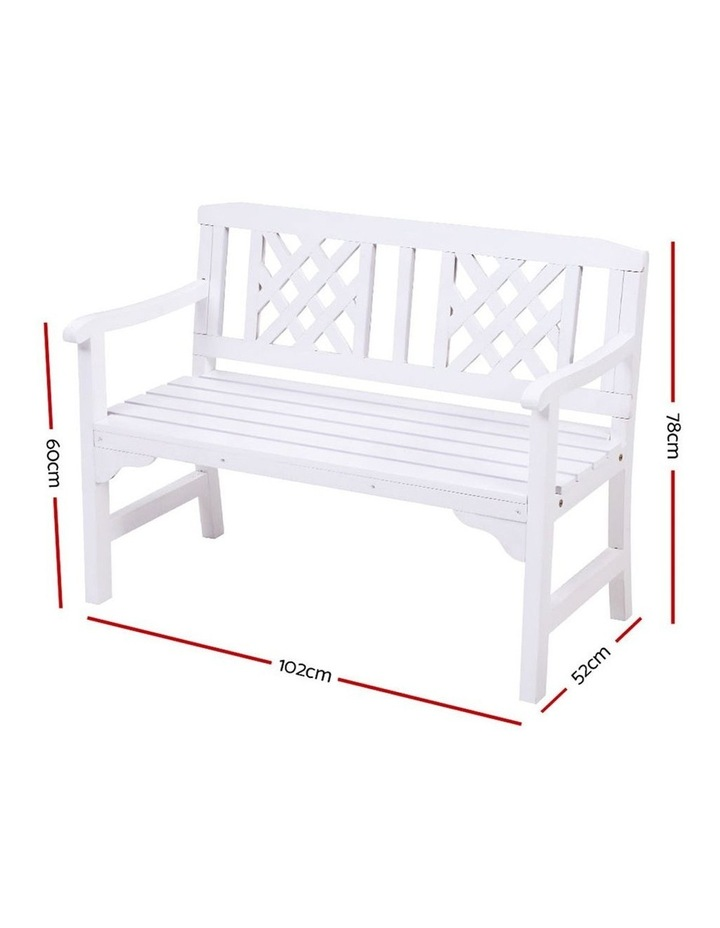 Wooden Garden Bench Seat Patio Furniture Timber Outdoor Lounge Chair image 2
