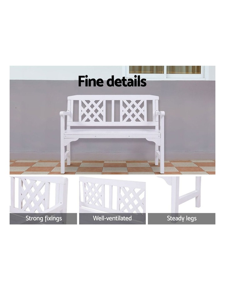 Wooden Garden Bench Seat Patio Furniture Timber Outdoor Lounge Chair image 4