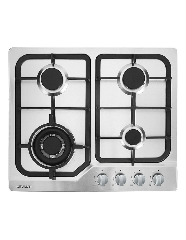Gas Cooktop 60cm Gas Stove Cooker 4 Burner Cook Top Konbs NG LPG Steel image 1