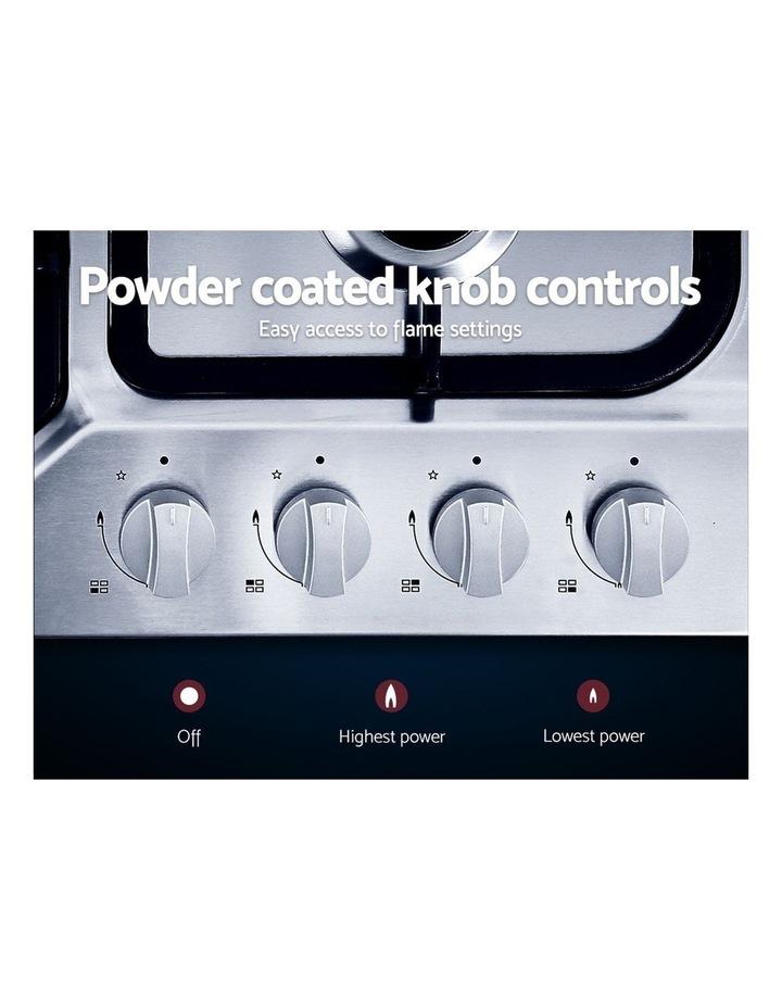 Gas Cooktop 60cm Gas Stove Cooker 4 Burner Cook Top Konbs NG LPG Steel image 4