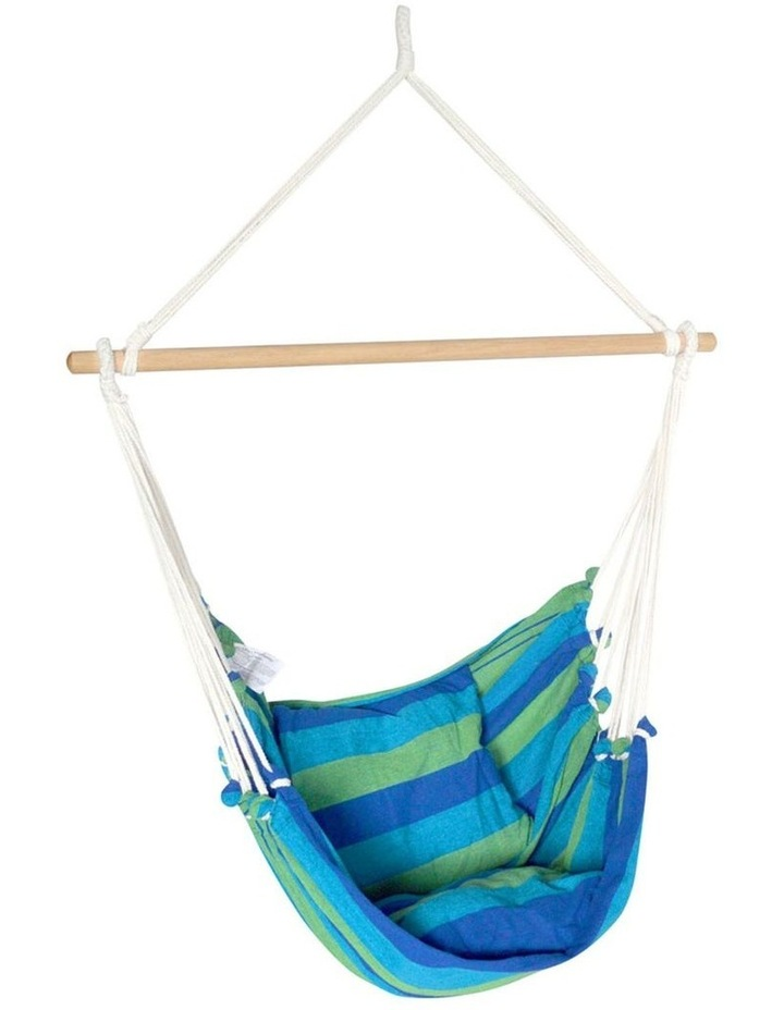 Hanging Hammock Chair Swing Indoor Outdoor Portable Camping Blue image 1