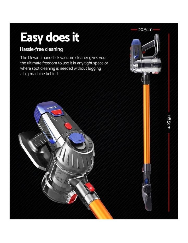 Handheld Vacuum Cleaner Cordless Stick Handstick Car Vac Bagless 2-Speed LED Headlight image 2