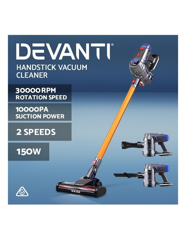 Handheld Vacuum Cleaner Cordless Stick Handstick Car Vac Bagless 2-Speed LED Headlight image 3