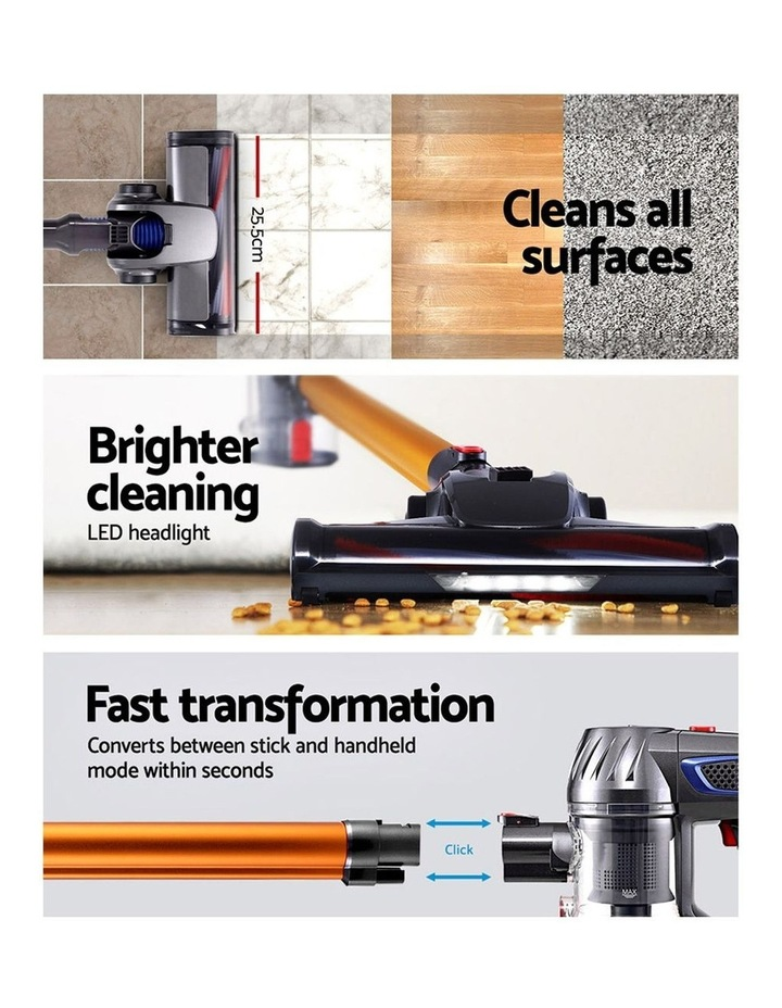 Handheld Vacuum Cleaner Cordless Stick Handstick Car Vac Bagless 2-Speed LED Headlight image 4