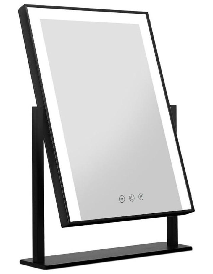 LED Makeup Mirror Hollywood Standing Mirror Tabletop Vanity Black image 1