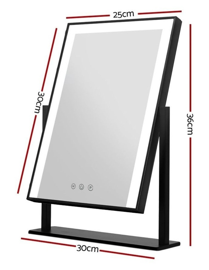 LED Makeup Mirror Hollywood Standing Mirror Tabletop Vanity Black image 2