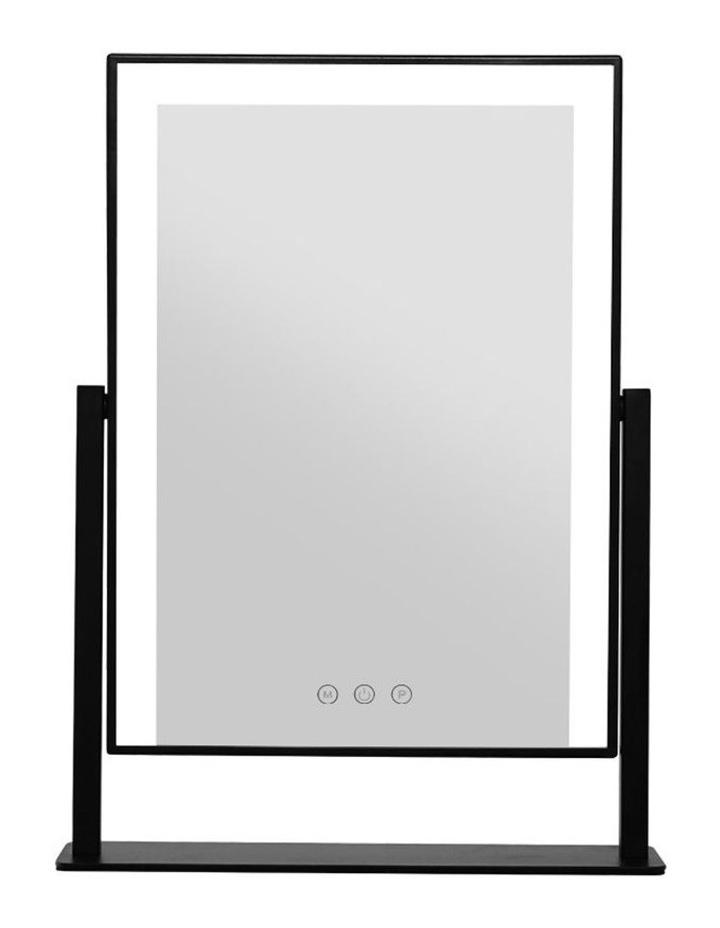 LED Makeup Mirror Hollywood Standing Mirror Tabletop Vanity Black image 3