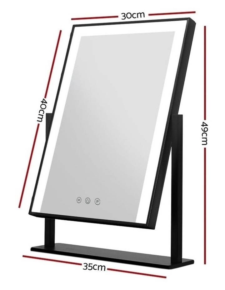 Hollywood Makeup Mirror With Light LED Strip Standing Tabletop Vanity image 2