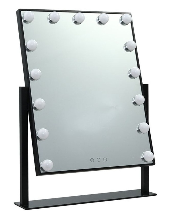 Hollywood Makeup Mirror Standing Mirror Tabletop Vanity 15 LED Bulbs image 1