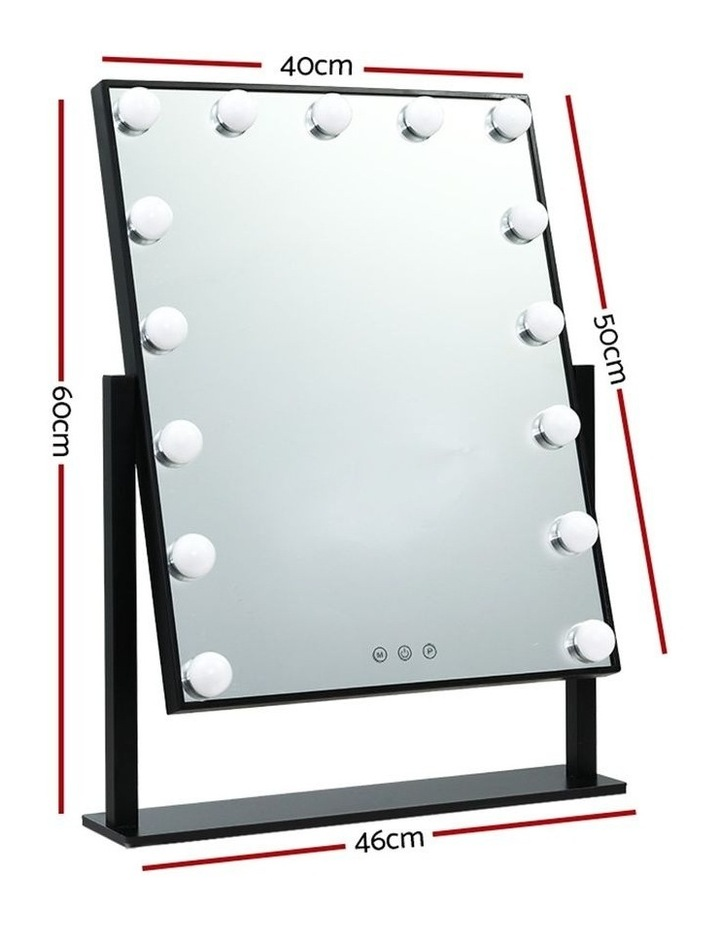 Hollywood Makeup Mirror Standing Mirror Tabletop Vanity 15 LED Bulbs image 2