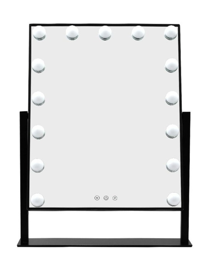 Hollywood Makeup Mirror Standing Mirror Tabletop Vanity 15 LED Bulbs image 3