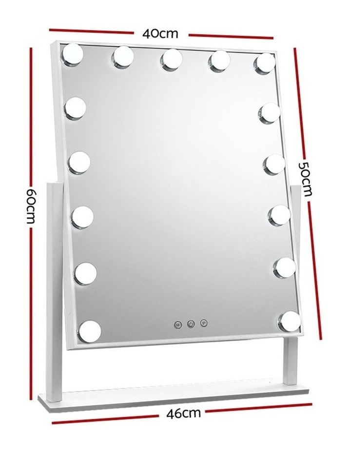 Hollywood Makeup Mirror with 15 Dimmable Bulb Lighted Dressing Mirror image 2