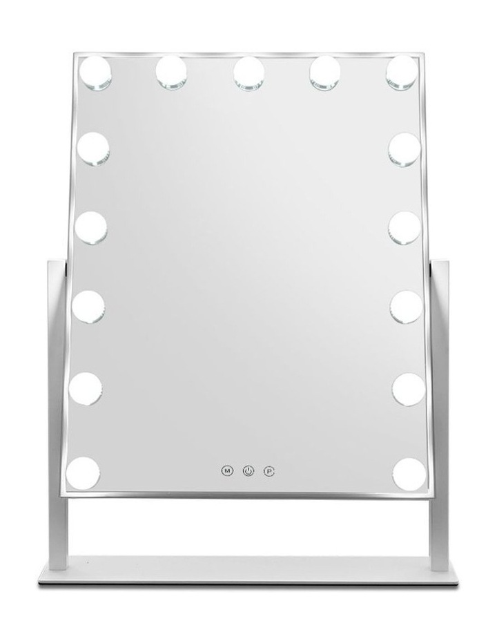 Hollywood Makeup Mirror with 15 Dimmable Bulb Lighted Dressing Mirror image 3