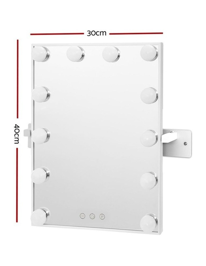 Hollywood Wall mirror Makeup Mirror With Light Vanity 12 LED Bulbs image 2