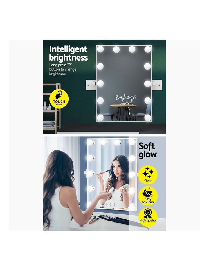 Hollywood Wall mirror Makeup Mirror With Light Vanity 12 LED Bulbs image 5