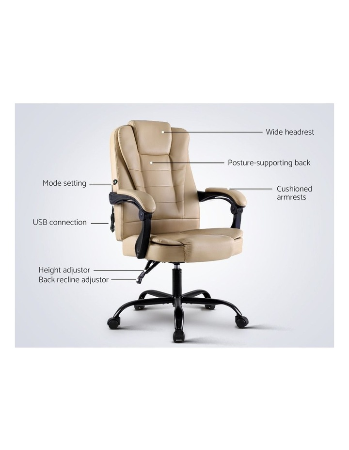 Massage Office Chair Gaming Chair Recliner Computer Chairs Khaki image 3