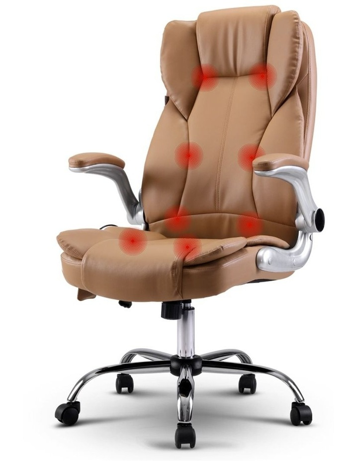 Massage Office Chair Gaming Chair Computer Desk Chair 8 Point Vibration Espresso image 1