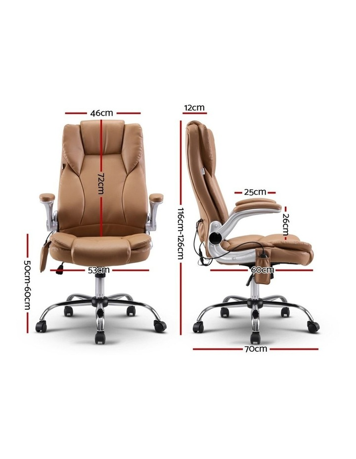 Massage Office Chair Gaming Chair Computer Desk Chair 8 Point Vibration Espresso image 2
