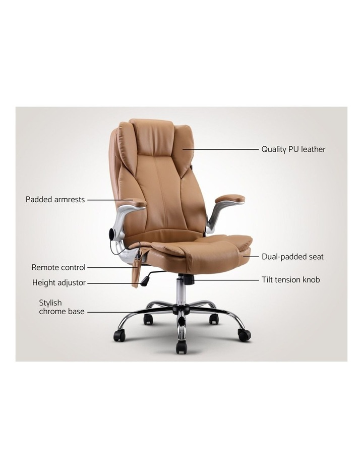 Massage Office Chair Gaming Chair Computer Desk Chair 8 Point Vibration Espresso image 3