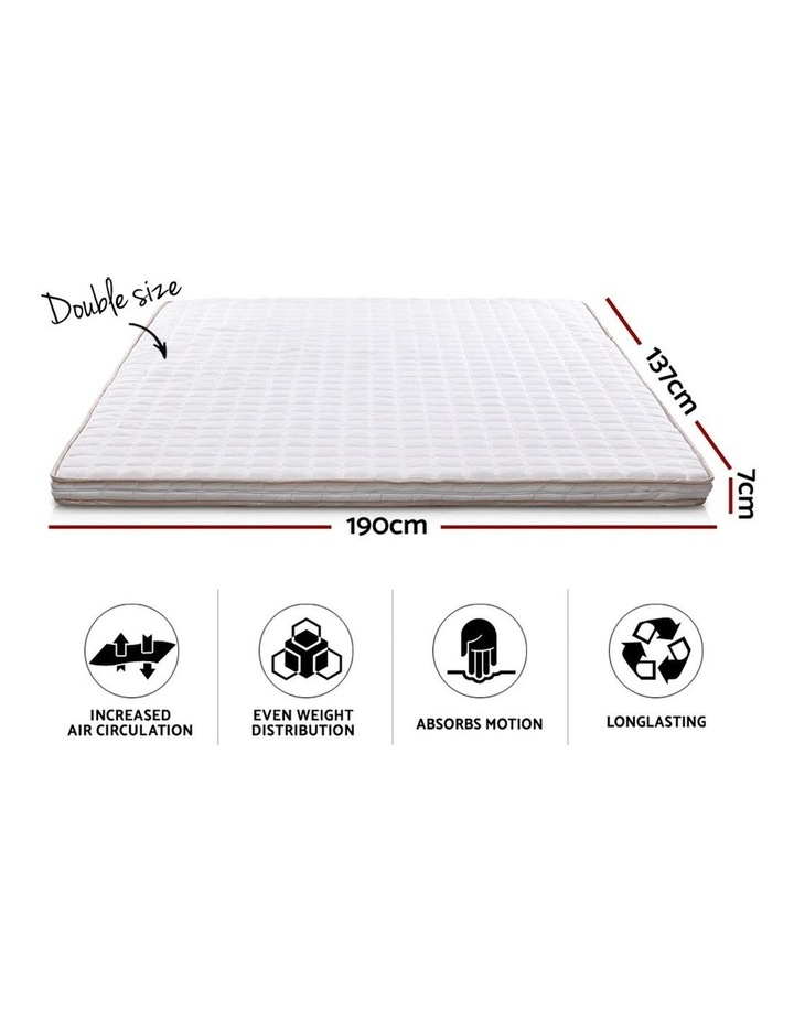Memory Foam Mattress Topper Bed Underlay Cover Double 7cm image 2