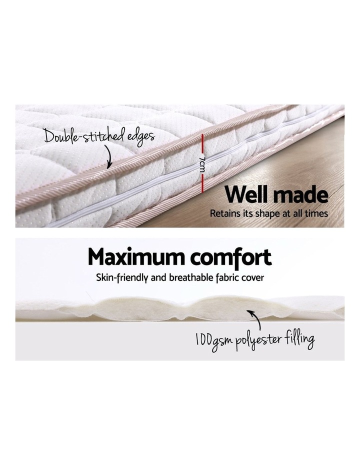 Memory Foam Mattress Topper Bed Underlay Cover Double 7cm image 4