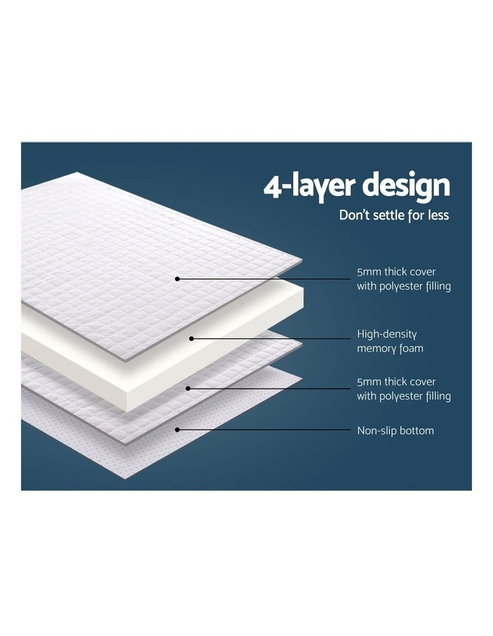 Memory Foam Mattress Topper Bed Underlay Cover Double 7cm image 5