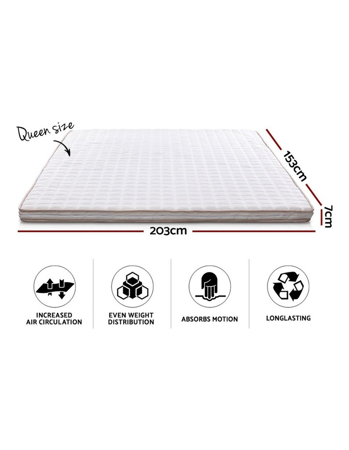 Memory Foam Mattress Topper Bed Underlay Cover Queen 7cm image 2