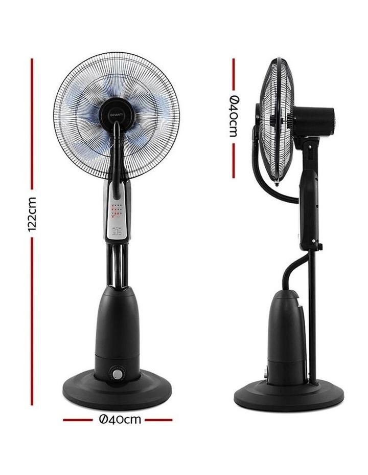 Mist Fan Pedestal Fans Cool Water Spray Timer Remote 5 Blades image 2