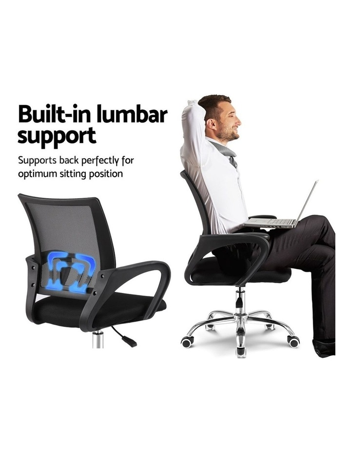 Office Chair Gaming Chair Computer Mesh Chairs Executive Mid Back Black image 3