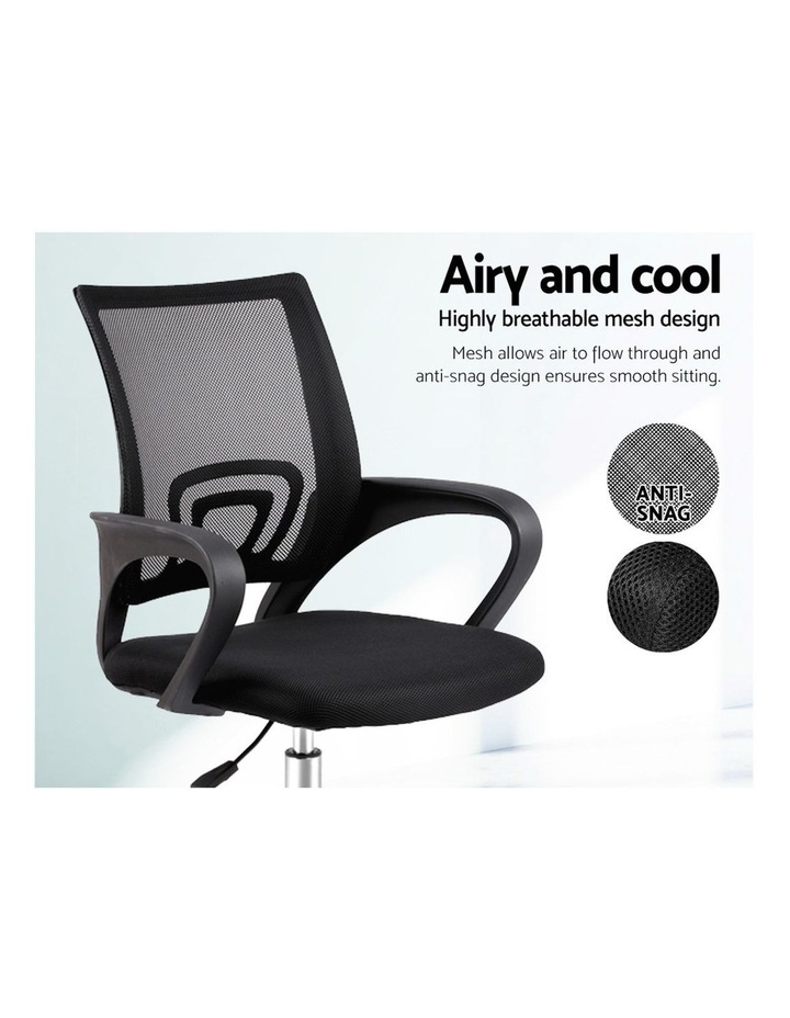 Office Chair Gaming Chair Computer Mesh Chairs Executive Mid Back Black image 4