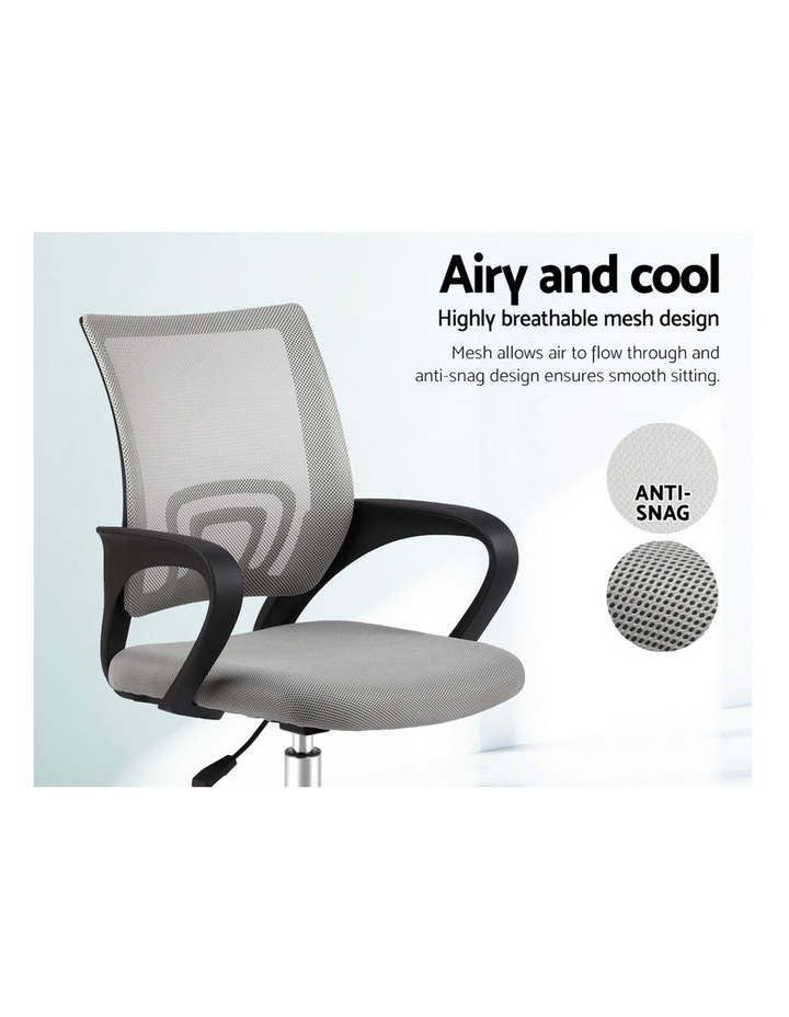 Office Chair Gaming Chair Computer Mesh Chairs Executive Mid Back Grey image 4