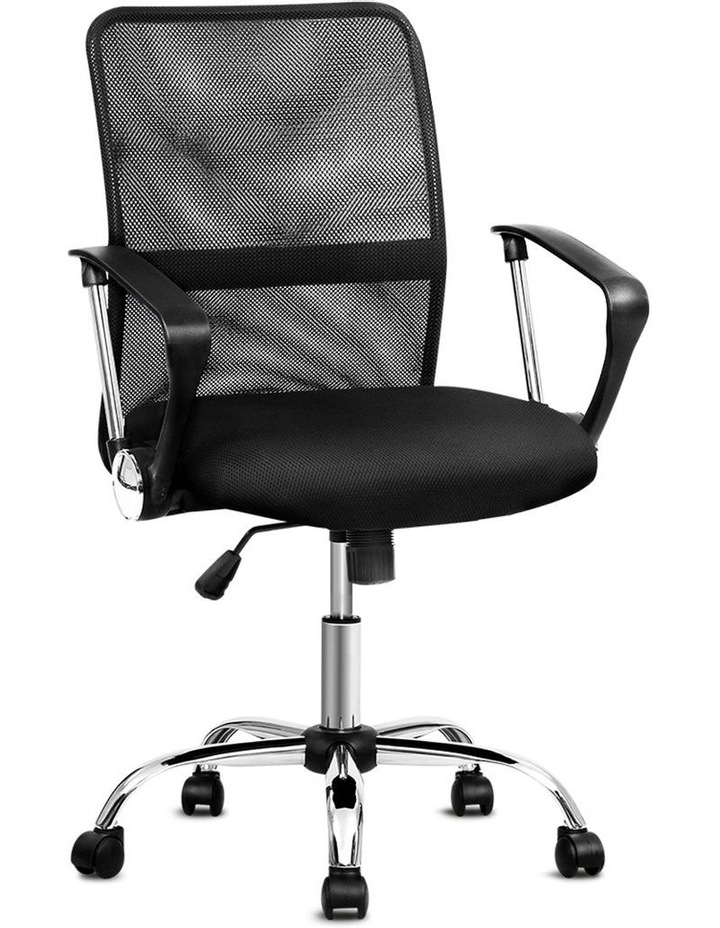 Office Chair Gaming Chair Computer Mesh Chairs Executive Mid Back Black image 1