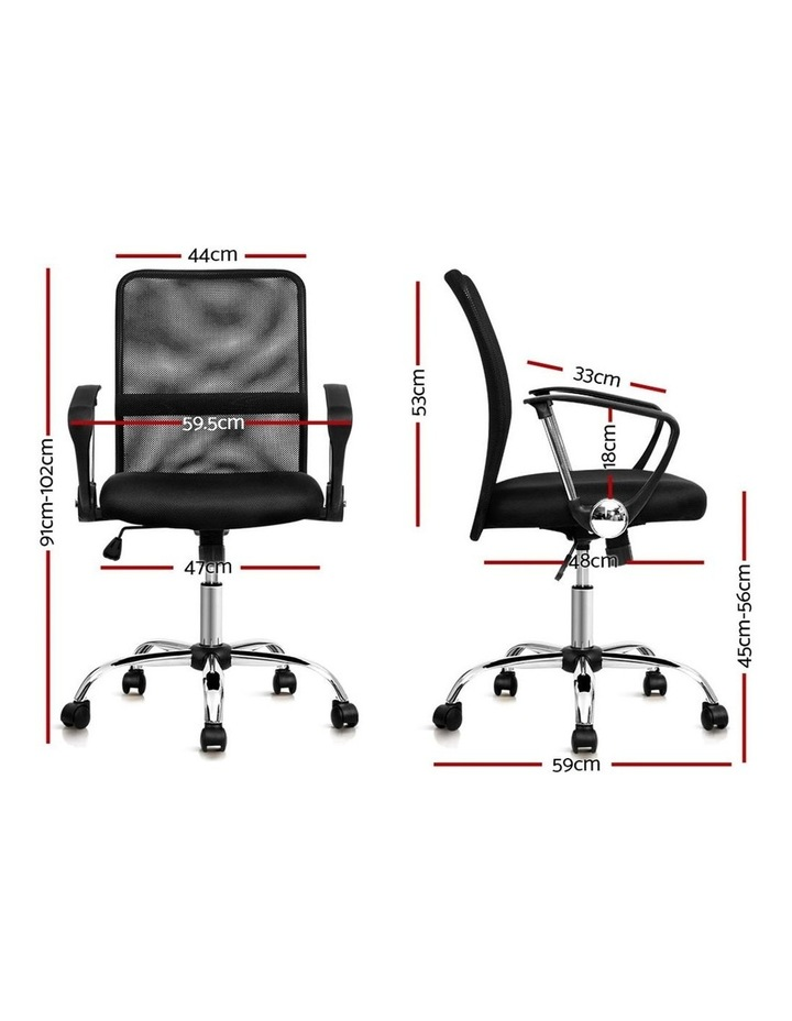 Office Chair Gaming Chair Computer Mesh Chairs Executive Mid Back Black image 2