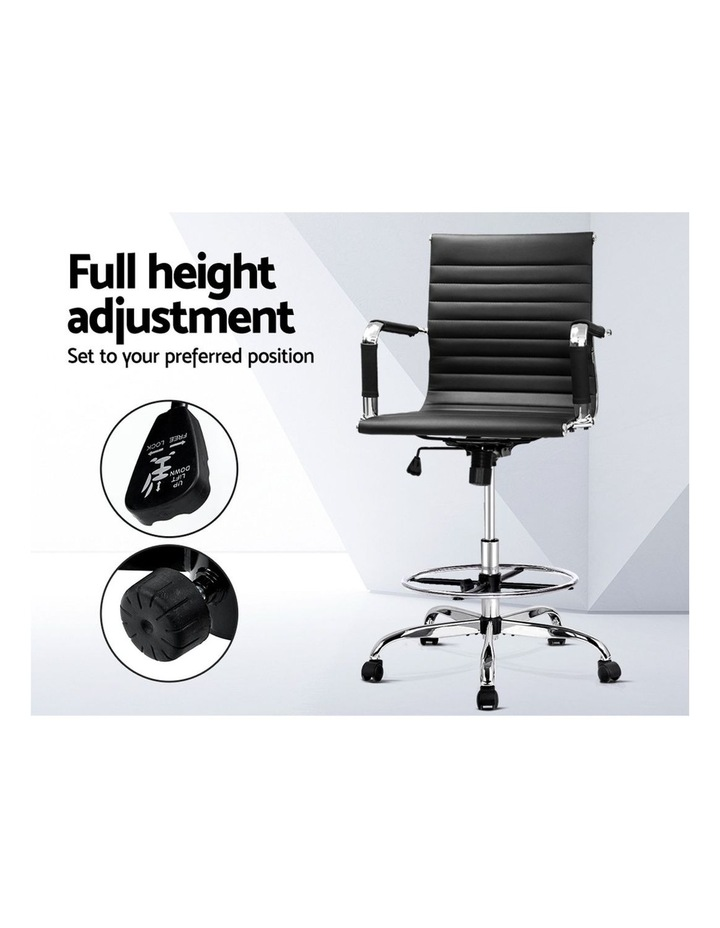 Office Chair Veer Drafting Stool Mesh Chairs Armrest Standing Desk Black image 4