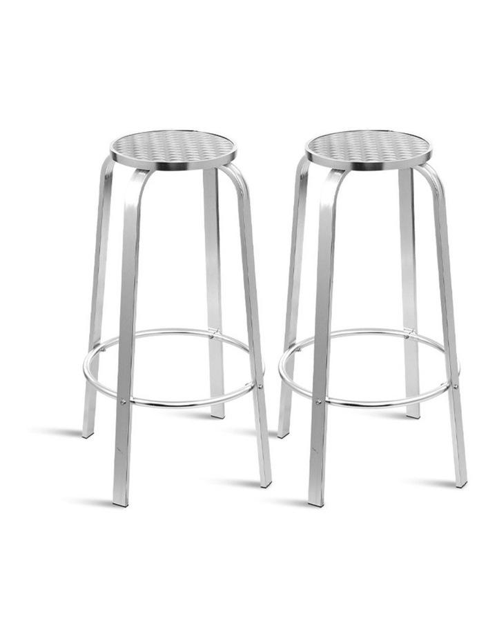 Outdoor Bar Stools Patio Furniture Indoor Bistro Kitchen Aluminum x2 image 1
