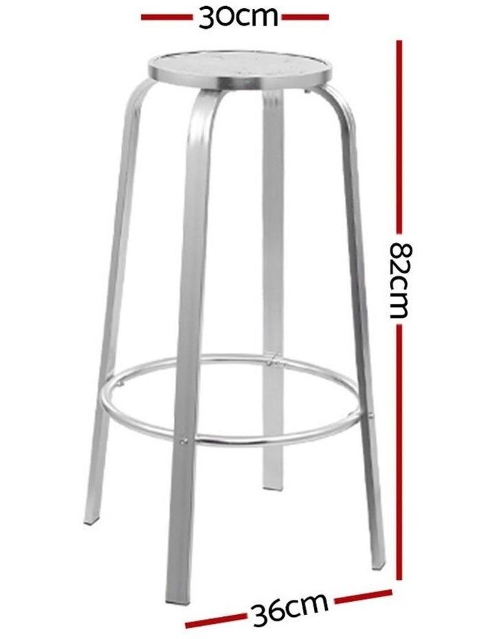 Outdoor Bar Stools Patio Furniture Indoor Bistro Kitchen Aluminum x2 image 2