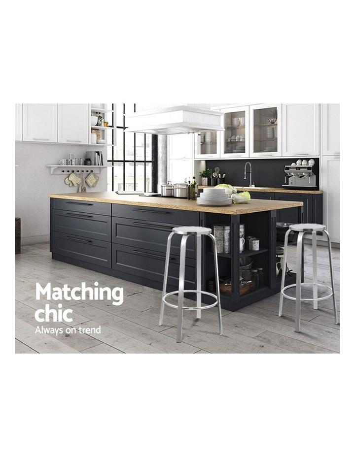 Outdoor Bar Stools Patio Furniture Indoor Bistro Kitchen Aluminum x2 image 3