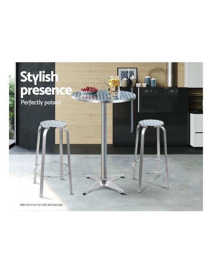 Outdoor Bar Stools Patio Furniture Indoor Bistro Kitchen Aluminum x2 image 4