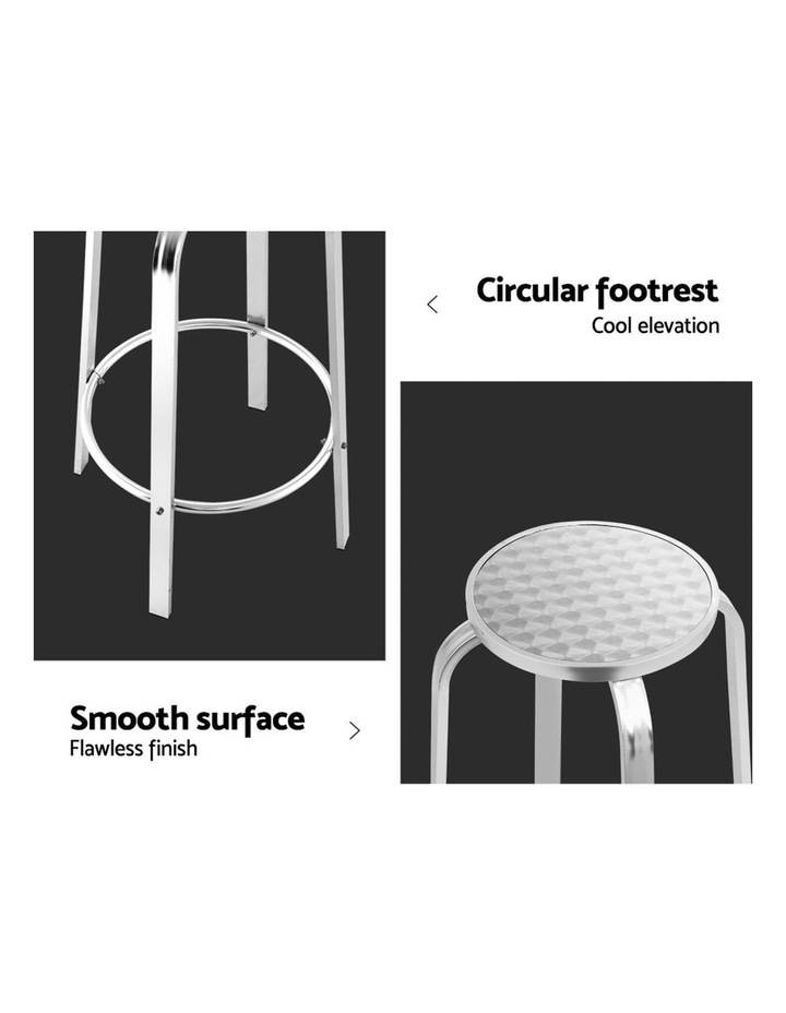 Outdoor Bar Stools Patio Furniture Indoor Bistro Kitchen Aluminum x2 image 6