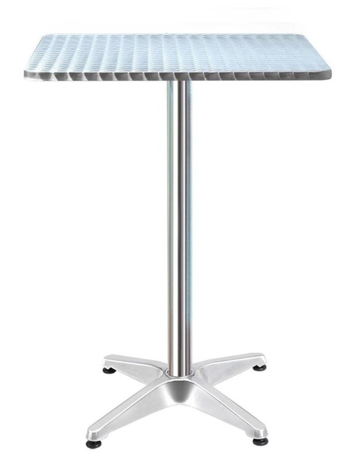 Bar Table Outdoor Furniture Adjustable Aluminium Pub Cafe Indoor Square image 1