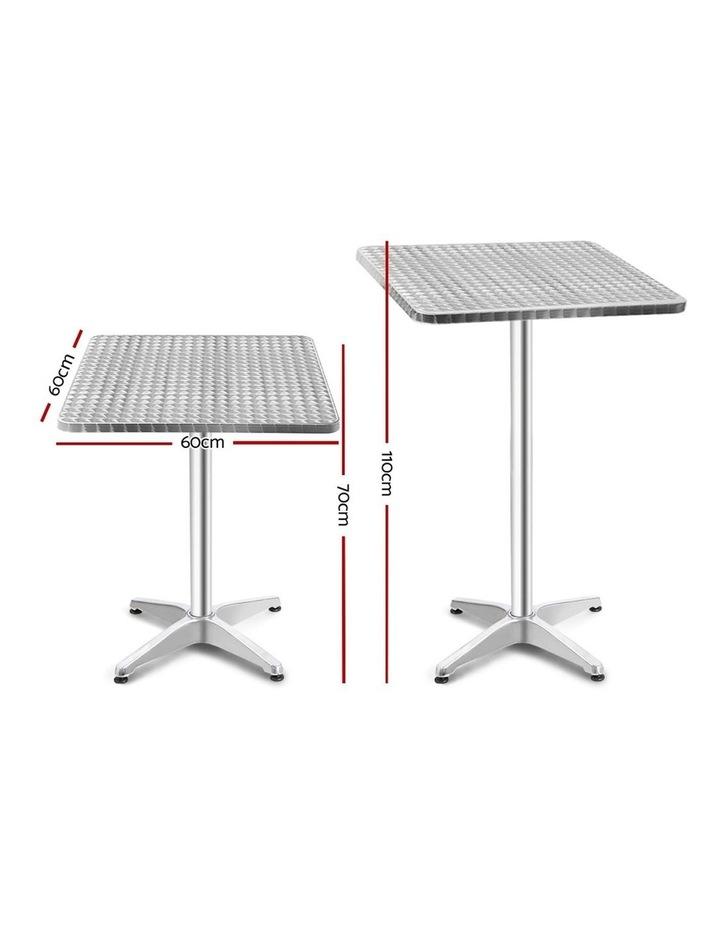 Bar Table Outdoor Furniture Adjustable Aluminium Pub Cafe Indoor Square image 2
