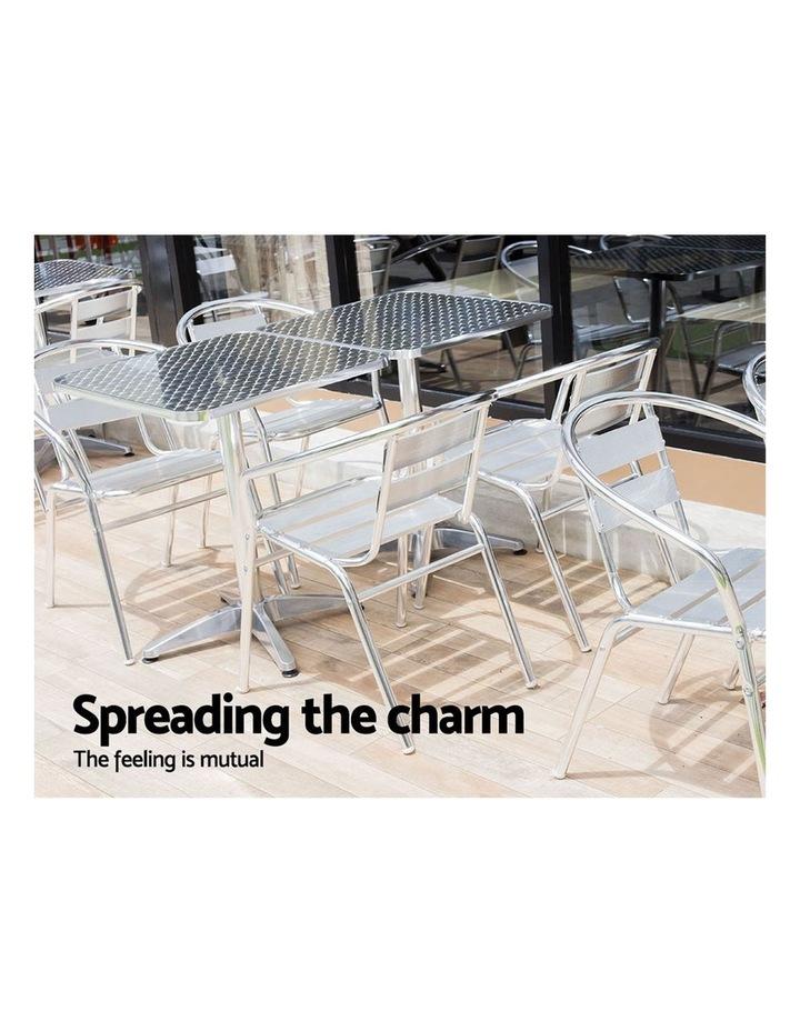 Bar Table Outdoor Furniture Adjustable Aluminium Pub Cafe Indoor Square image 3